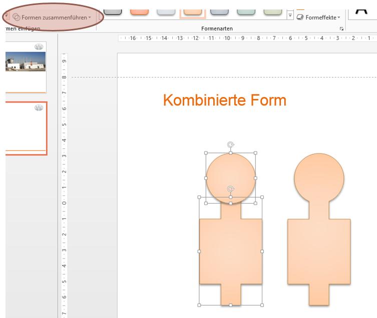Formen kombinieren in PowerPoint 2013
