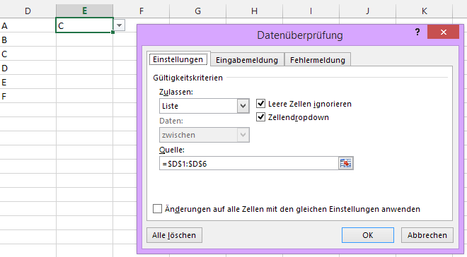 #Excel #Auswahl #DropDown #Liste