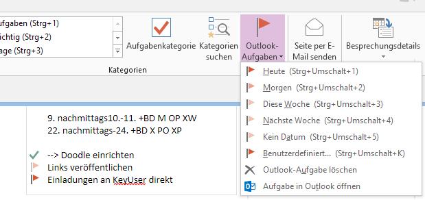 #Outlook #Aufgaben in #OneNote erstellen