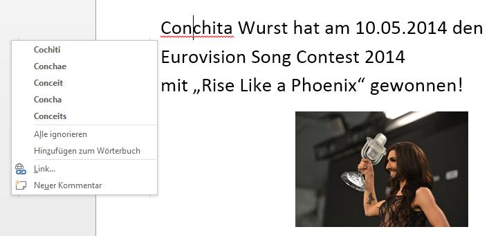 #Word #Rechtschreibung #Conchita