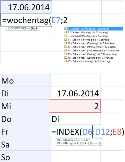 Welcher #Wochentag ist ...? mit #Excel beantwortet