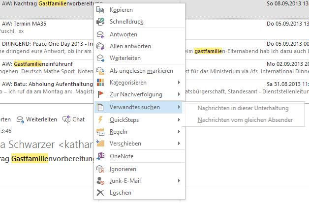 #Verwandte #mails in #Outlook