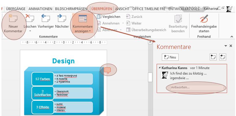 Reden Sie miteinander – in #PowerPoint gibt's dafür den #Kommentar