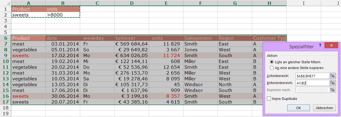 Tipp Excel Filter Erweitert Basis