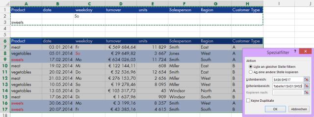 Tipp Excel Filter Erweitert ODER
