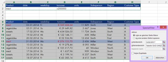 Tipp Excel Filter Erweitert UND