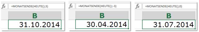 Tipp Excel Funktion Monatsende