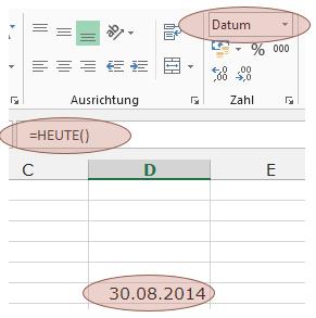 Tipp Excel HEUTE