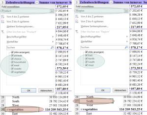 Tipp Excel Pivot Filter