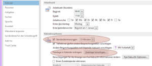 Tipp Outlook Kalenderoptionen