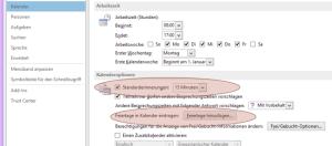 Tipp Outlook Kalenderoptionen
