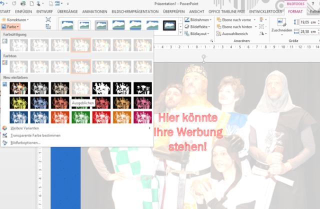 Tipp PowerPoint Bild Ausgeblichen