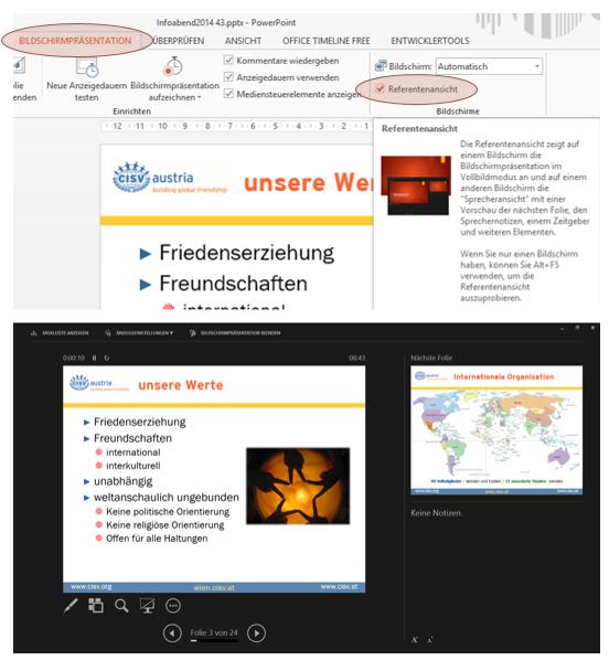 Tipp PowerPoint Referentenansicht