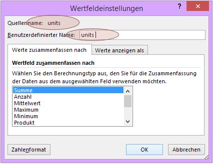 Tipp Excel Pivot Benutzerdefinierter Name