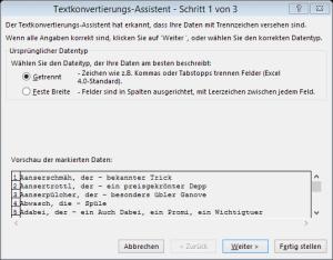 Tipp Excel TextinSpalten1