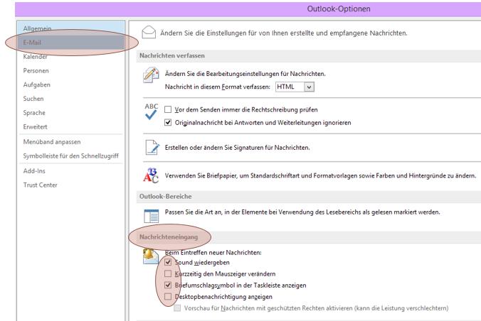 Tipp Outlook Optionen Nachrichteneingang