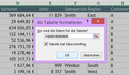 Tipp Excel Tabelle 2
