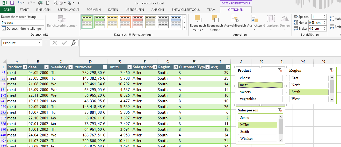 Tipp Excel Tabelle Datenschnitt 2