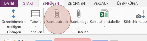 Tipp OneNote Dateiausdruck