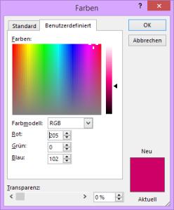 Tipp RGB Farbauswahl
