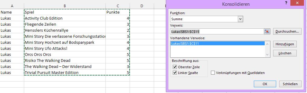 Tipp Excel Konsolodieren 2