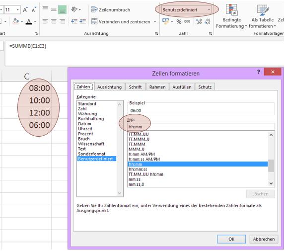 Tipp Excel Uhrzeit