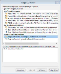 Tipp Outlook Weihnachten Regel1