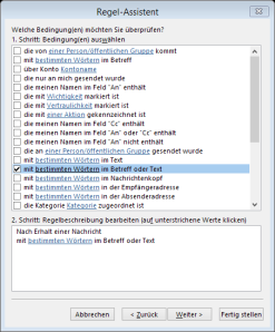 Tipp Outlook Weihnachten Regel2