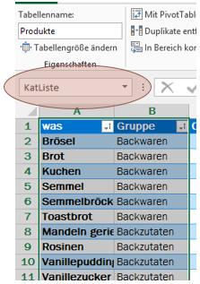 Tipp Excel benannter Bereich