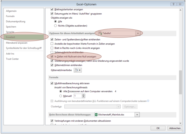 Tipp Excel Nullwerte ausblenden
