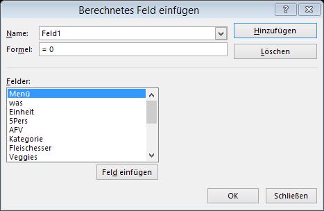 Tipp Excel Pivot Berechnetes Feld