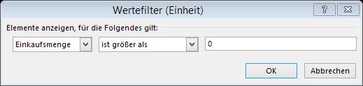 Tipp Excel Pivot Wertefilter Auswahl