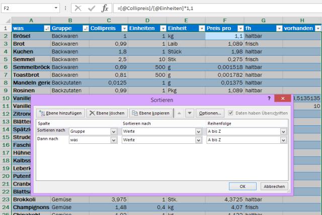 Tipp Excel Sortieren Ebenen