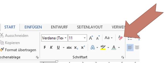 Tipp Word Formatierung löschen 2