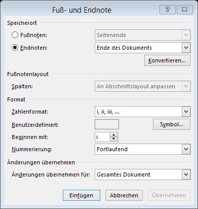 Tipp Puß- und Endnote