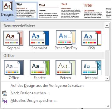 Tipp benutzerdefiniertes Design