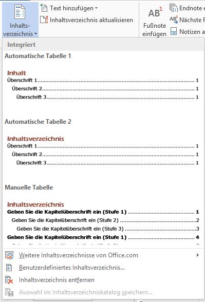 WTipp Inhaltsverzeichnis 1