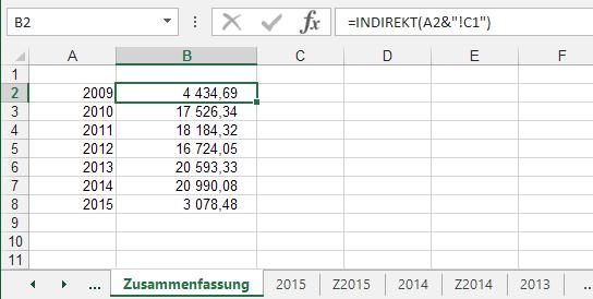 Verweis auf ein variables #Tabellenblatt in #Excel – #flexibilität ...