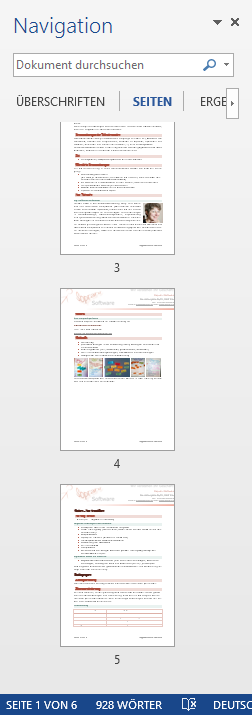 WTipp Navigation Seiten