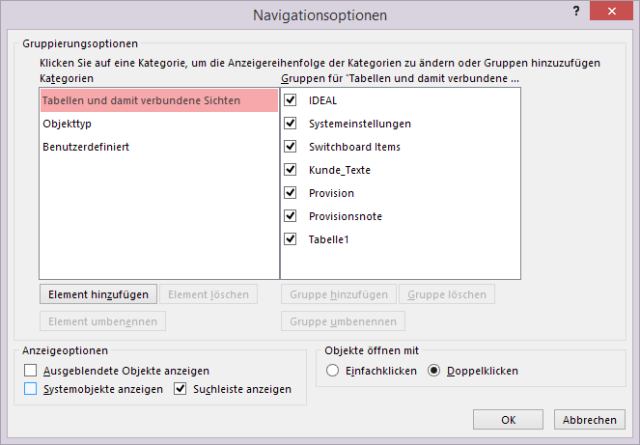 ATipp Navigationsoptionendialog