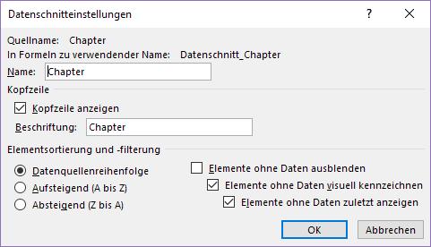XTipp Datenschnitt Optionen