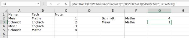 XTipp SVERWEIS Matrixformel